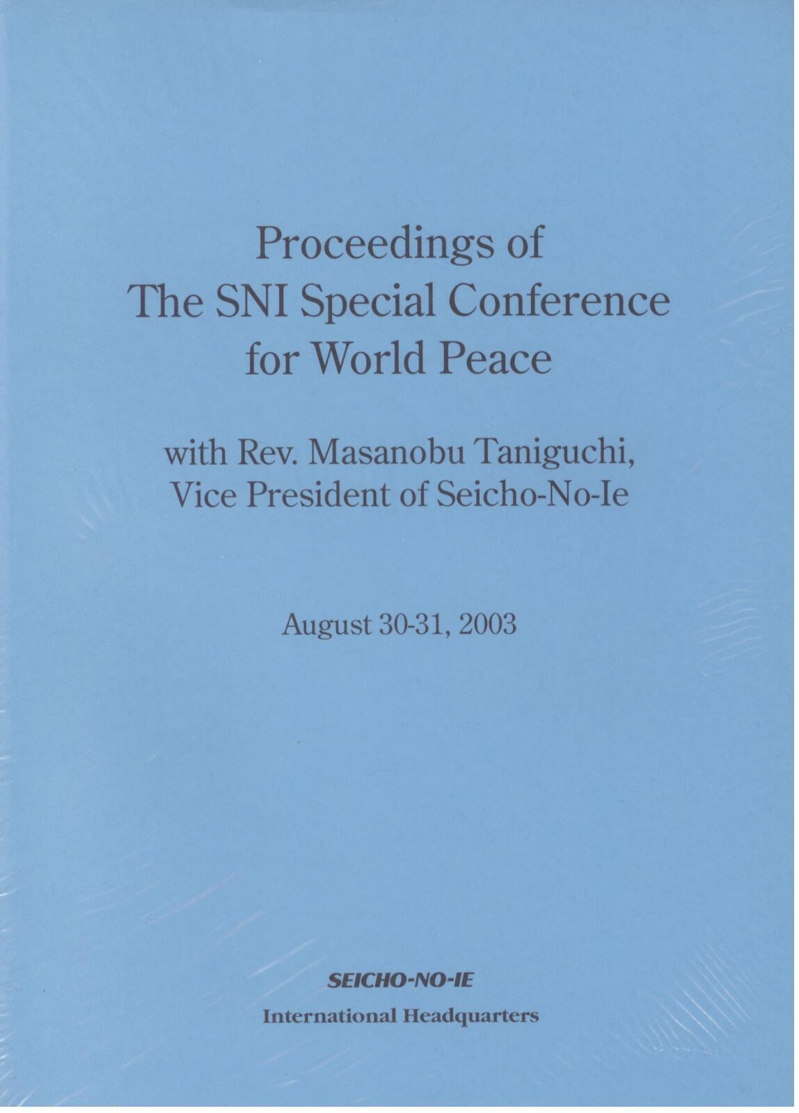 Proceedings 2003